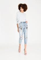 ONLY - Tonni Embroidery Jeans Pale Blue