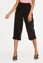 STYLE REPUBLIC - Wide Leg Cropped Trouser Black