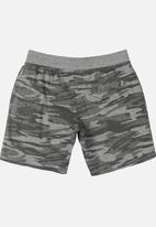 Brave Soul - Printed Shorts Charcoal