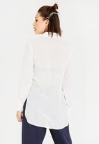 STYLE REPUBLIC - Sheer Shirt Off White