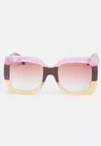 STYLE REPUBLIC - Square Sunglasses Mid Pink