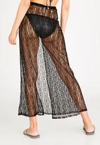 Sissy Boy - Long Skirt Cover-up Black