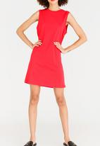 ONLY - June Sleeveless Boxy Dress Red