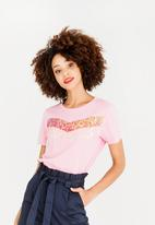 ONLY - Jamila Sequins Tee Pale Pink