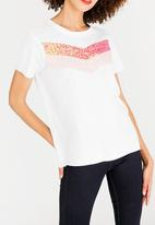 ONLY - Jamila Sequins Tee White