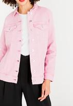 ONLY - Eva Oversized Denim Jacket Mid Pink
