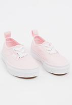 Vans - Authentic Elasticated Lace Up Sneaker Mid Pink