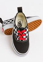 Vans - Vans Authentic elastic lace - black/red/white