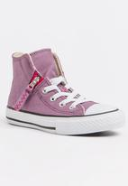 Converse - Chuck Taylor All Star Pull Zip  Sneaker Mid Purple