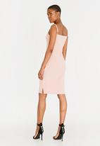c(inch) - Slit Detail Bodycon Dress Pale Pink