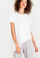 c(inch) - Asymmetrical T-Shirt Off White