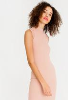 c(inch) - High Neck Bodycon Dress Rose