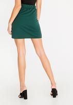 c(inch) - Self-Tie Mini Skirt Green