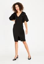 STYLE REPUBLIC - Volume sleeve dress black