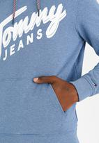 Tommy Hilfiger - Basic Logo Hoody Blue