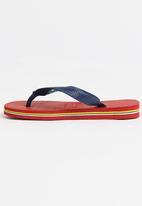 Havaianas - Brazil logo sandals  - red