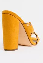 Miss Black - Welsh Block Heels Yellow