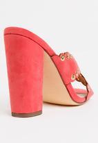 Miss Black - Welsh Block Heels Pale Pink