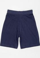 POP CANDY - Printed shorts with drawstring - navy