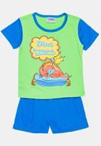 Twin Clothing - Dinosaur Printed Sleepwear Set Multi-colour
