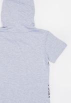 POP CANDY - Printed Batman Hooded Tee Grey