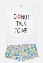 Twin Clothing - Donut Print Sleepwear Set White