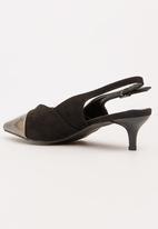 STYLE REPUBLIC - Metallic Toe Cap Courts Black