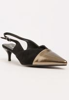 STYLE REPUBLIC - Metallic Toe Cap Courts Black