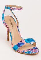 Miss Black - Giynne Open Toe Heels Pale Pink