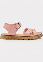 POP CANDY - Strappy sandal with buckle closure - pink