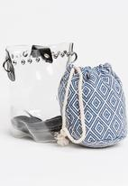 Joy Collectables - Mini Bucket Bag Blue and White