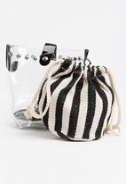 Joy Collectables - Mini Bucket Bag Black and White