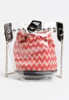 Joy Collectables - Mini Bucket Bag Red