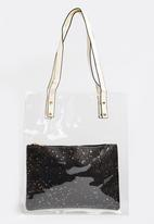 Joy Collectables - Transparent Shopper Bag Black