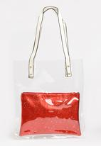 Joy Collectables - Transparent Shopper Bag Red