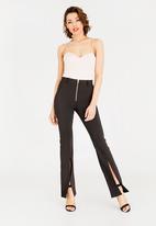 Sissy Boy - Flare Trouser with Slit Detail Black