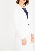 edit - Regular fit blazer - white