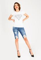 GUESS - Guess Rose Print Tee White