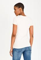 GUESS - Guess Rose Print Tee Pale Pink