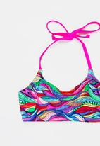 Sun Things - Rainbow Geo Bralet & Strappy Bottom Set Multi-colour
