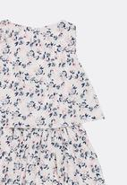 POP CANDY - Printed Gathered Dress White