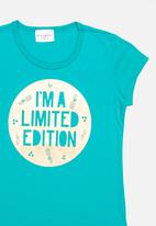 POP CANDY - Printed Tee Turquoise
