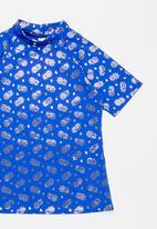Sun Things - Foil pineapple rash vest - blue