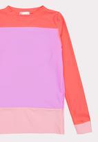 POP CANDY - Colour Block Rashvest Mid Pink