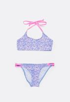 Sun Things - Ditsy Pink Bralet & Strappy Bottom Set Multi-colour