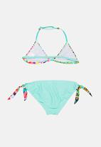 POP CANDY - Printed colour block bikini - mint