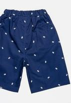 POP CANDY - Skull printed shorts - navy