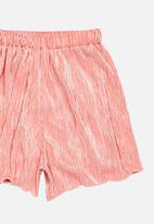 POP CANDY - Velour Shorts Mid Pink