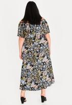 STYLE REPUBLIC PLUS - Frill Bardot Dress Multi-colour
