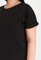 STYLE REPUBLIC PLUS - Boxy Tshirt Dress Black